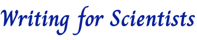 Writing for Scientists logo